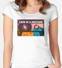 Love Is A Mixtape Women's Fitted Scoop T-Shirt