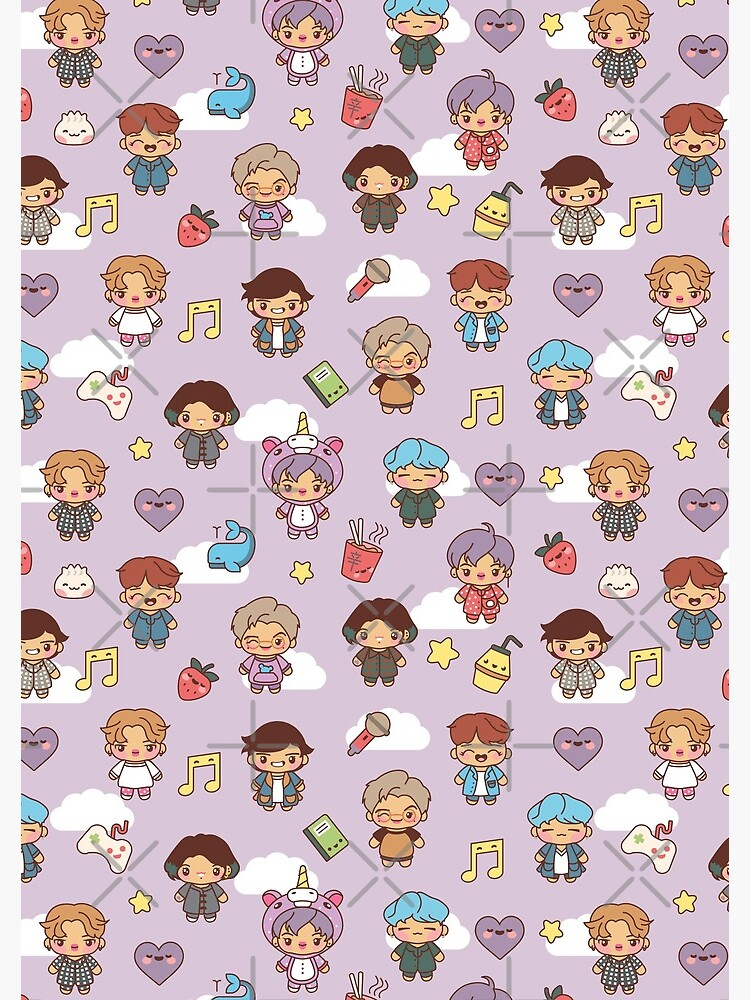 BTS Pajama Party (Purple, Journals & Notebooks) by MikaBees