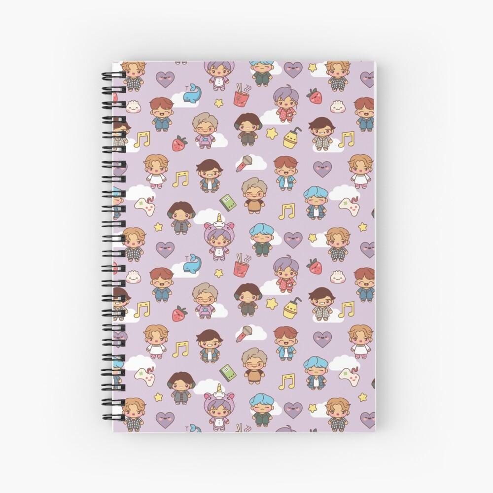 BTS Pajama Party (Purple, Journals & Notebooks) Spiral Notebook