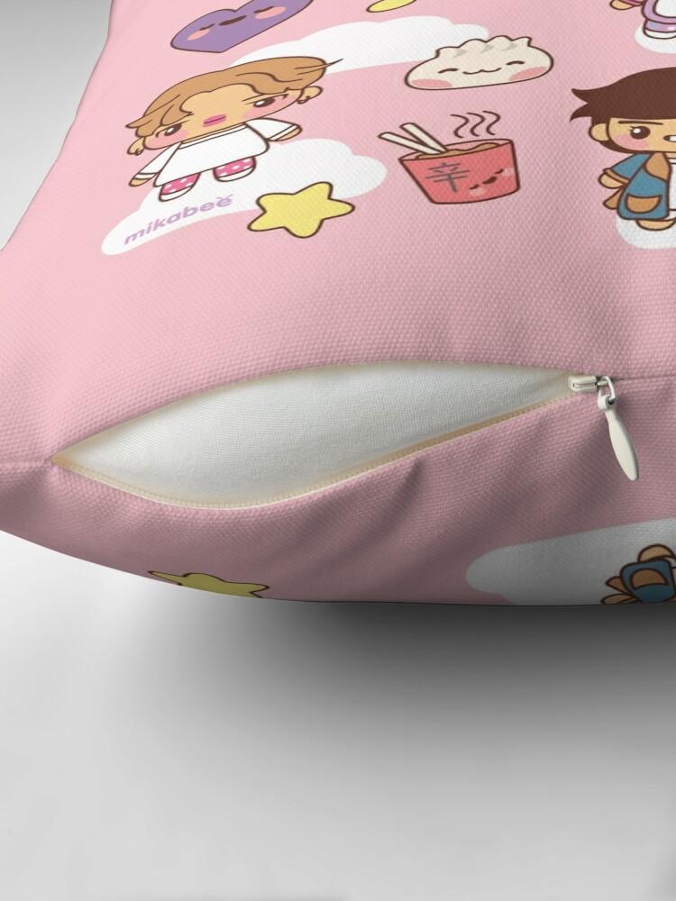 Alternate view of BTS Pajama Party (Pink, Pillows) Throw Pillow