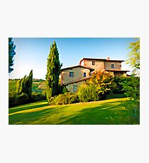 Tuscany Farmhouse  Photographic Print