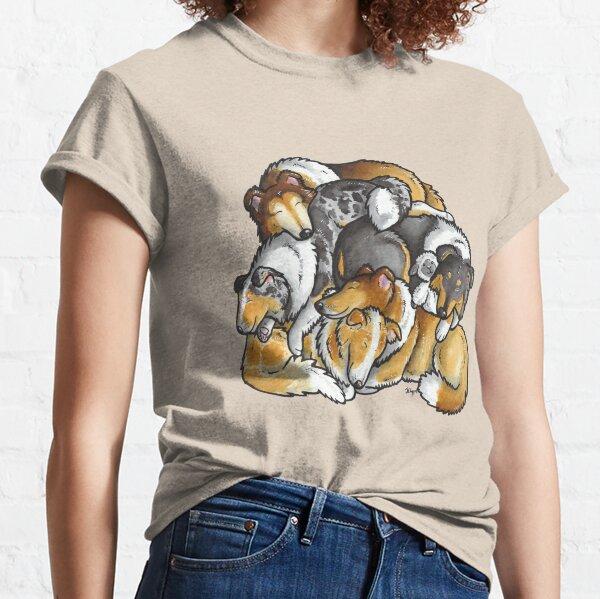 Rough Collie - sleeping pile cartoon Classic T-Shirt