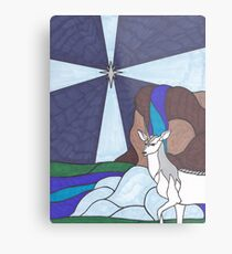 Tarot - The Star - Unicorn Metal Print