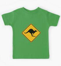 Be Careful Kangaroos! Kids Tee