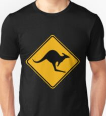 Be Careful Kangaroos! T-Shirt