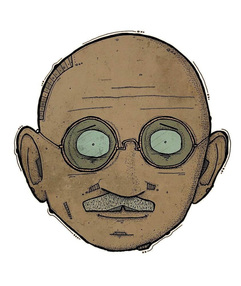 Gandhi by Iskoderanged