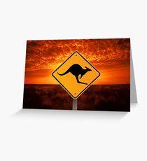 Be Careful Kangaroos! Greeting Card