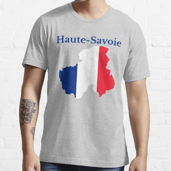 Haute Savoie Map, France, French Department Essential T-Shirt