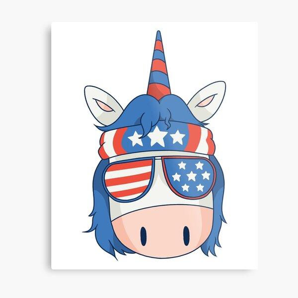 American unicorn Metal Print
