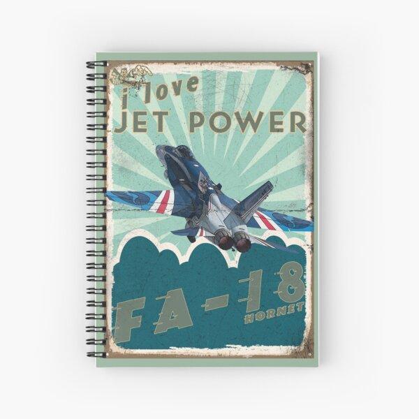 FA18A_Hornet_01AG Spiral Notebook