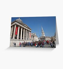 National Gallery & St Martin in the Fields church Greeting Card