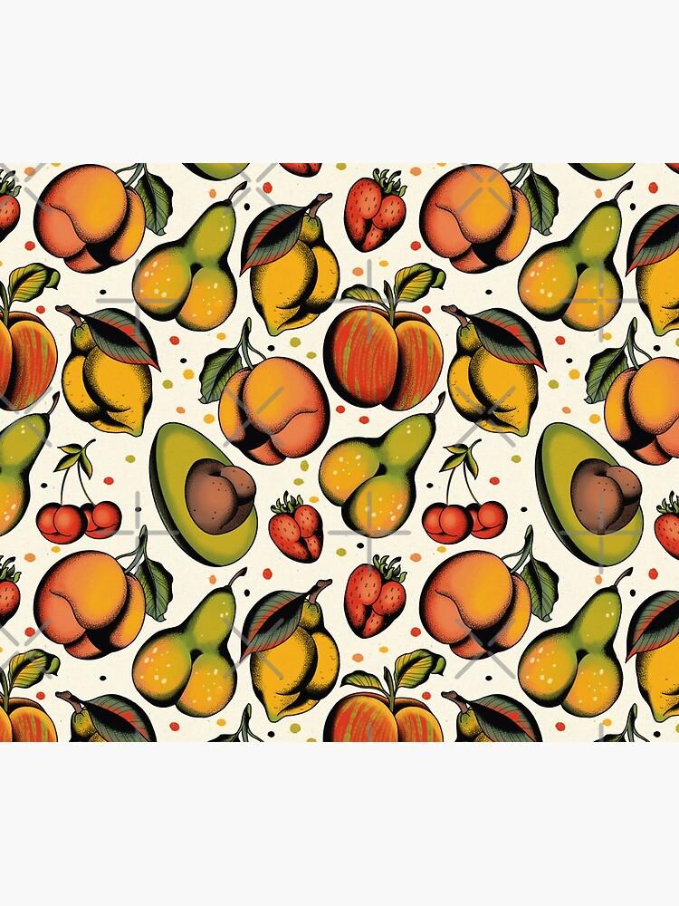 Tutti frutti, sexy fruits tattoo flash by ceciliagranata