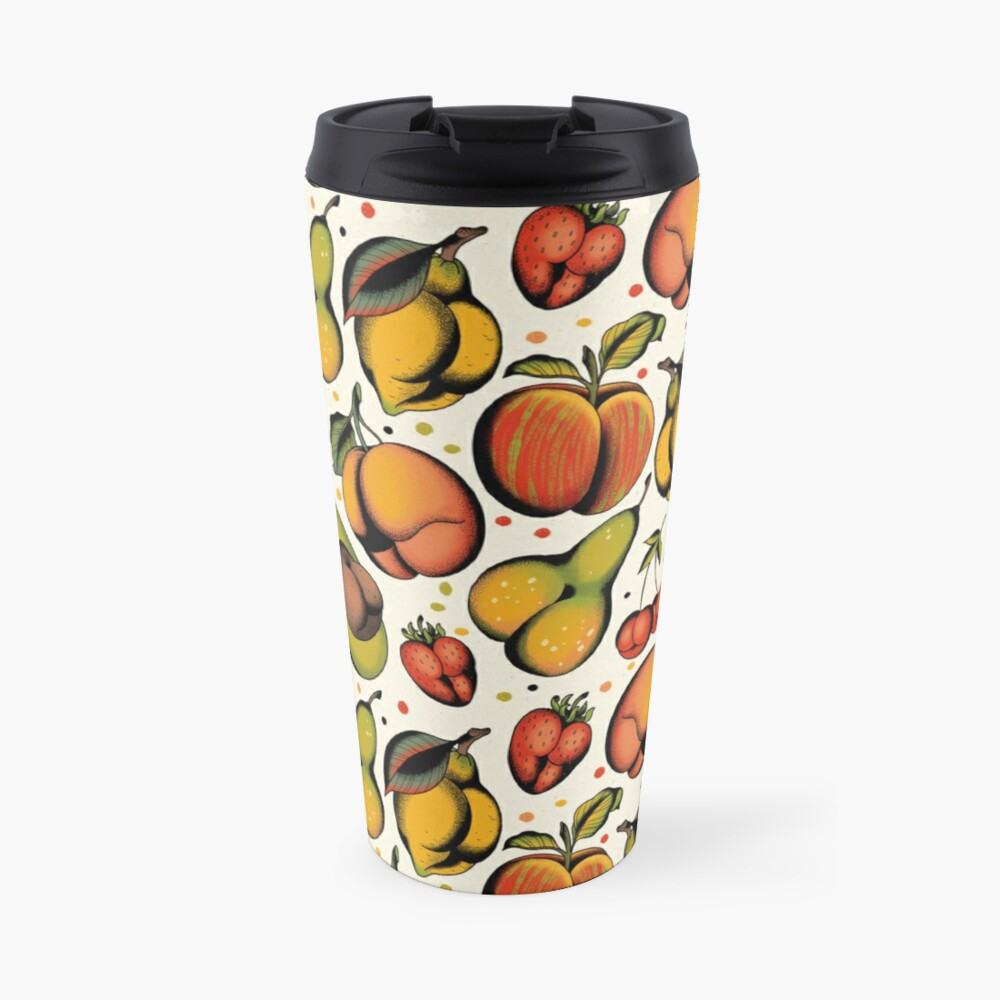 Tutti frutti, sexy fruits tattoo flash Travel Mug