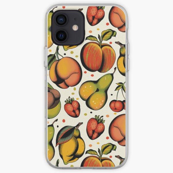 Tutti frutti, sexy fruits tattoo flash iPhone Soft Case