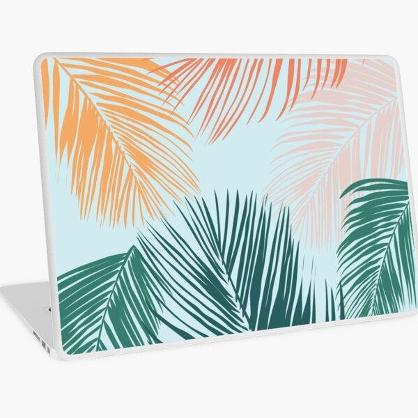 Bright & Tropical Palm Leaves  Laptop Skin