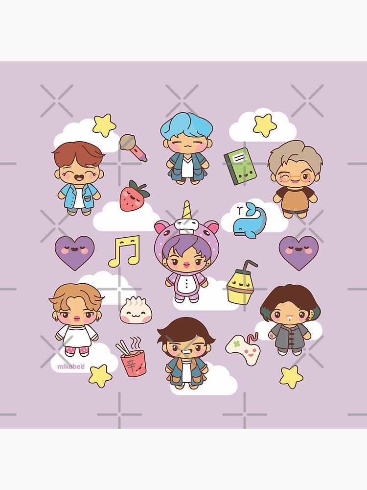 BTS Pajama Party (Purple, Pillows) by MikaBees