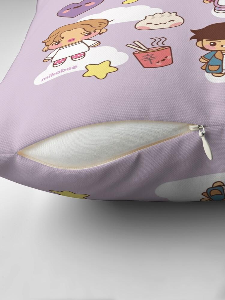 Alternate view of BTS Pajama Party (Purple, Pillows) Throw Pillow