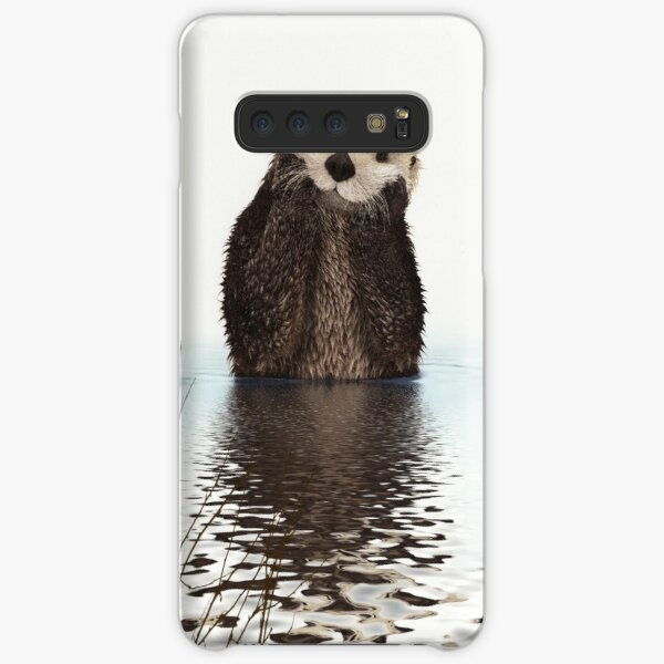 Adorable Smiling Otter in Lake Samsung Galaxy Snap Case