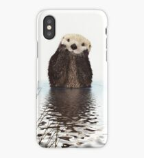 Adorable Smiling Otter in Lake iPhone Case/Skin