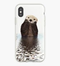 Adorable Smiling Otter in Lake iPhone Case