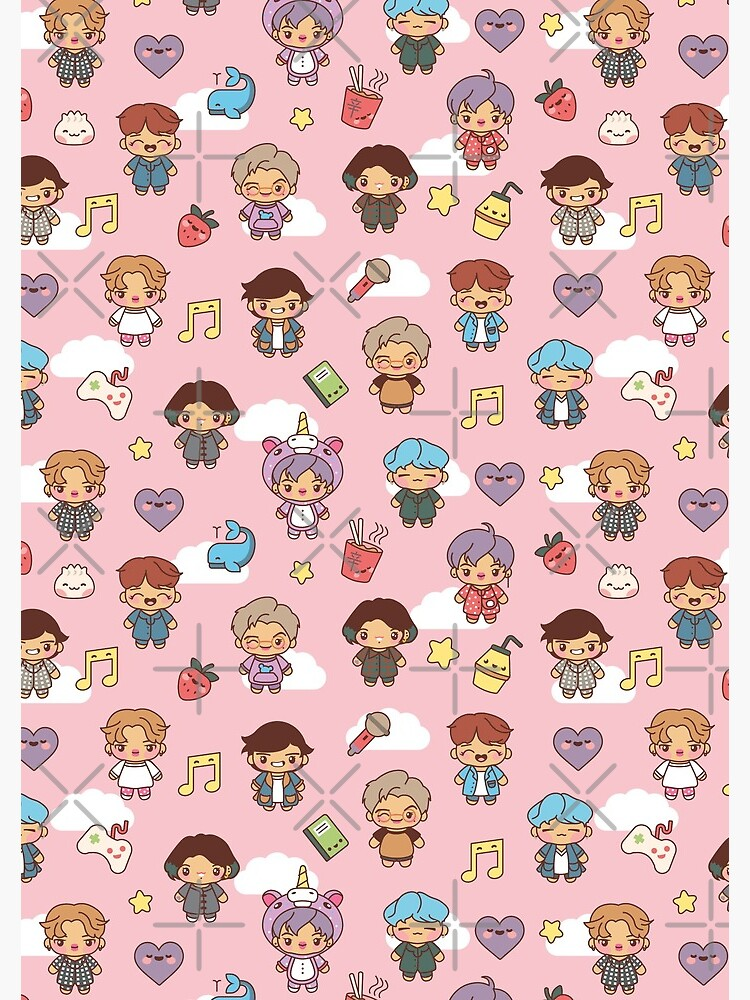 BTS Pajama Party (Pink, Journals & Notebooks) by MikaBees