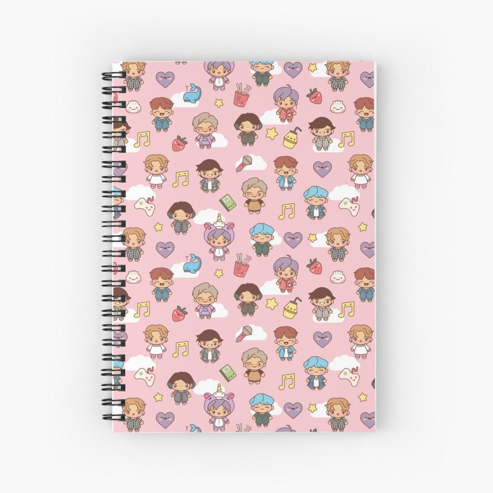 BTS Pajama Party (Pink, Journals & Notebooks) Spiral Notebook