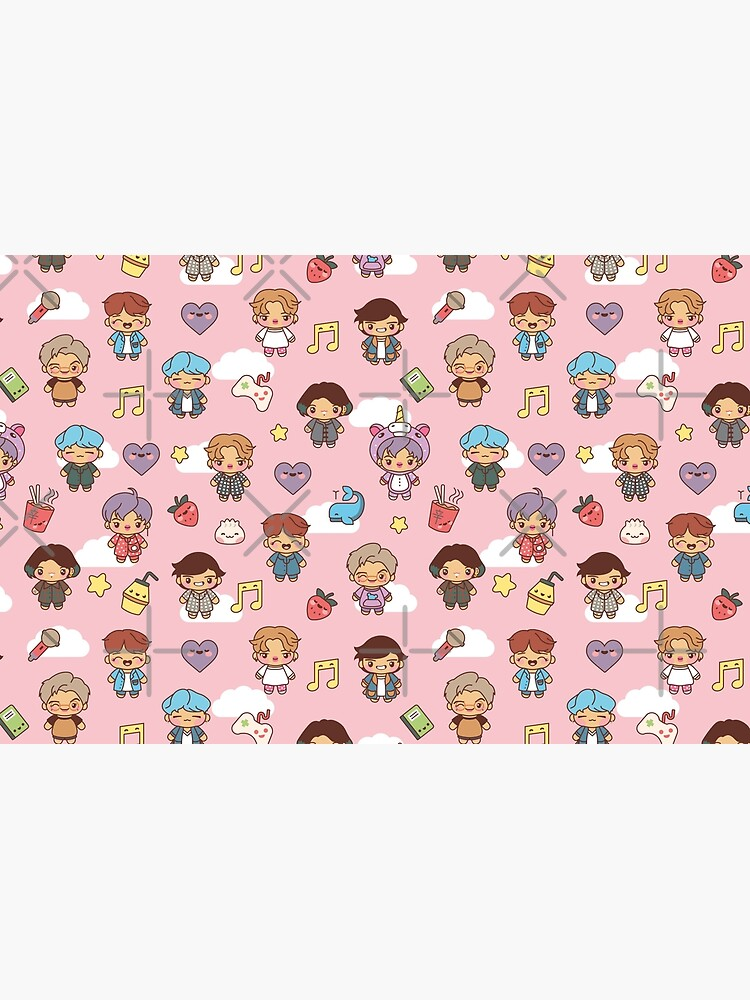 BTS Pajama Party (Pink, Pouches & Sleeves) by MikaBees