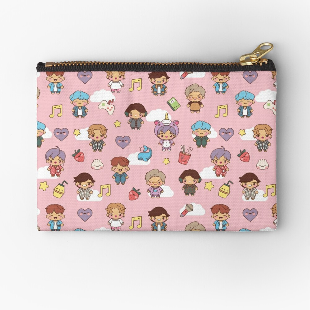 BTS Pajama Party (Pink, Pouches & Sleeves) Zipper Pouch