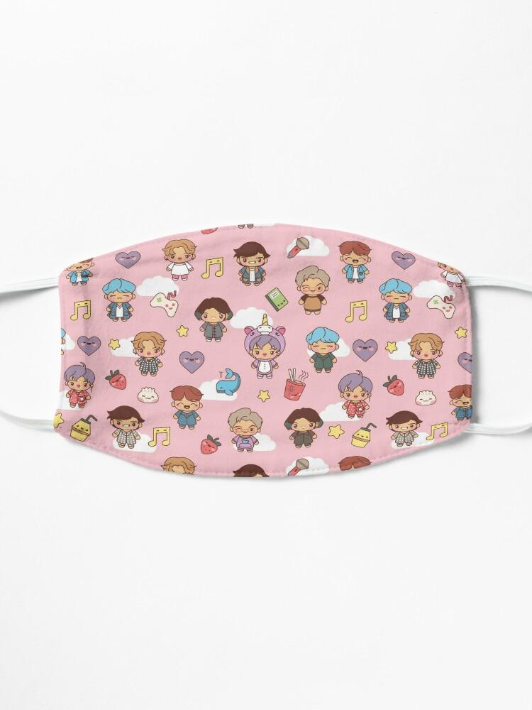 Alternate view of BTS Pajama Party (Pink, Masks) Mask