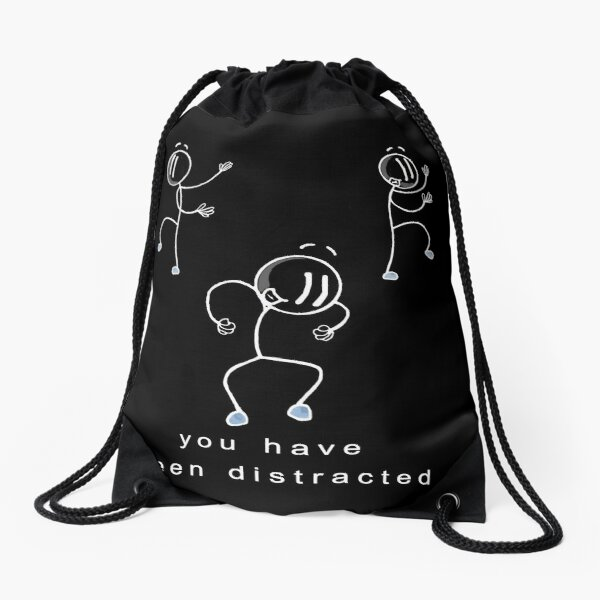 You have been distracted Classic 3 Black - Henry Stickmin Drawstring Bag