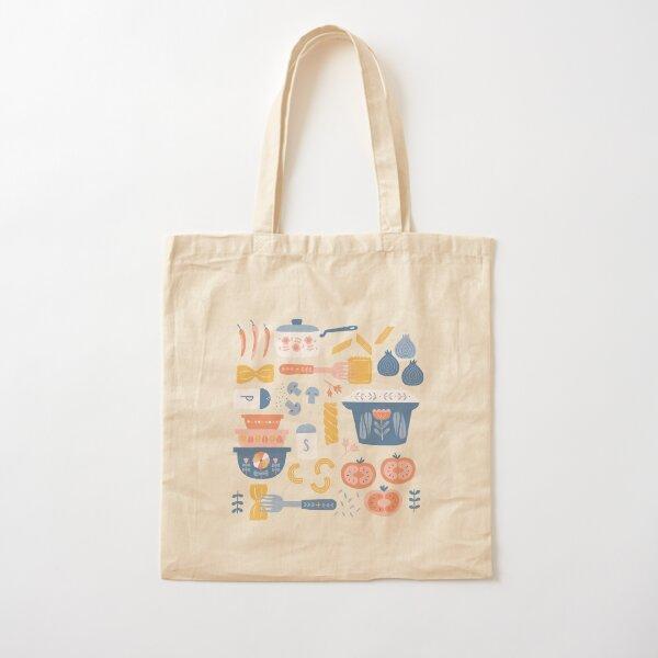 Pasta Night Cotton Tote Bag