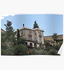 Casona señorial. Messina, Alto.       (Sicilia), Italia.  Poster