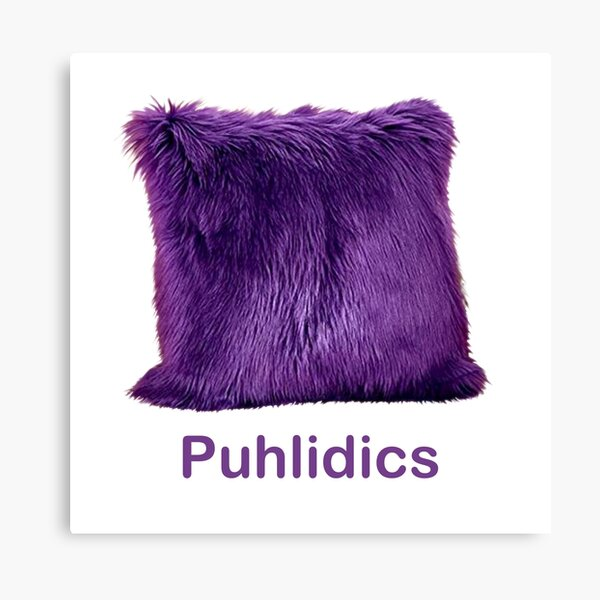 Puhlidics Fuzzy Purple Pillow Candace vs. CB Canvas Print