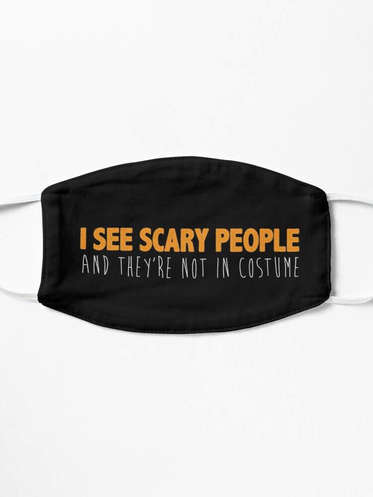 Alternate view of I See Scary People   Halloween Costume Mask