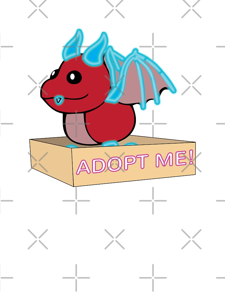 Roblox Adopt Me Pets Neon Dragon Mega Neon Red And Blue Dragon Legendary Kids T Shirt By Stinkpad Redbubble
