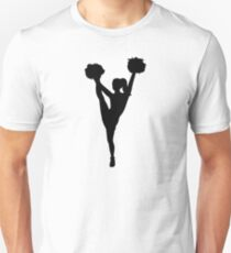 Dancing cheerleader girl Slim Fit T-Shirt