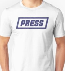 PRESS Blue - FrontLine Unisex T-Shirt
