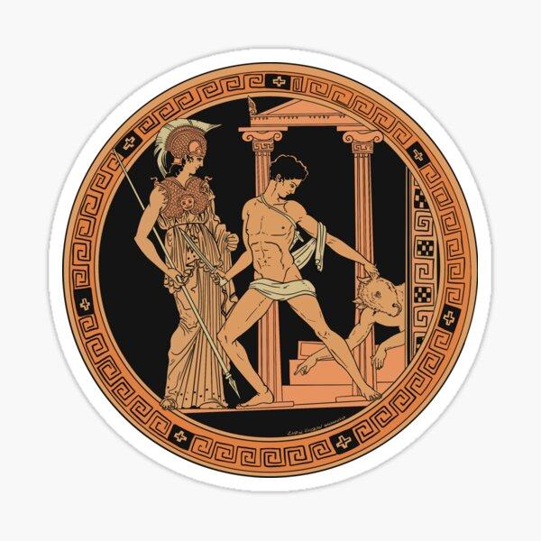 Athena, Theseus and the Minotaur Sticker