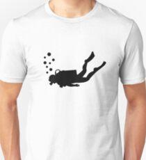 Camiseta unisex Burbujas de buzo