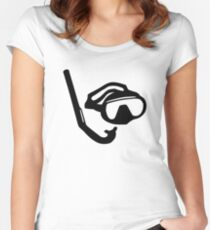 Diving glasses snorkel Women's Fitted Scoop T-Shirt
