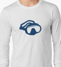 Diving goggles glasses Long Sleeve T-Shirt