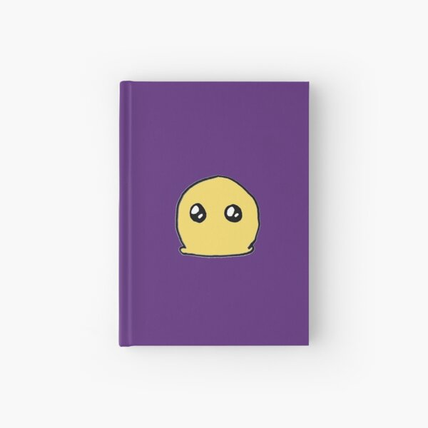 blob on a purple background Hardcover Journal
