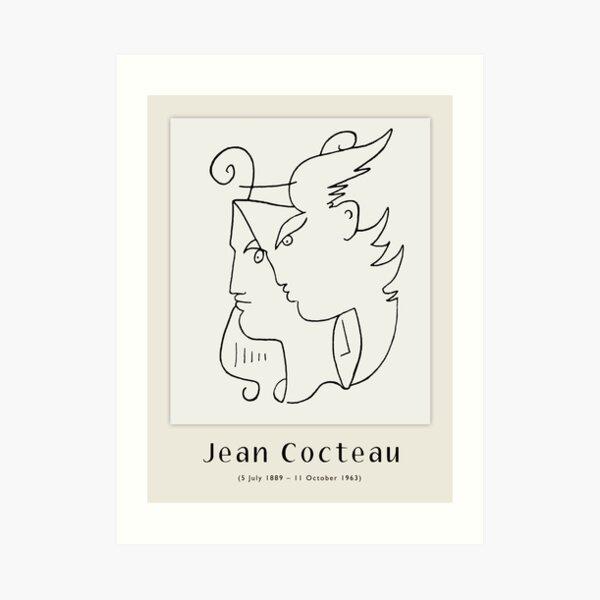 Affiche-Jean Cocteau-Orphée. Impression artistique