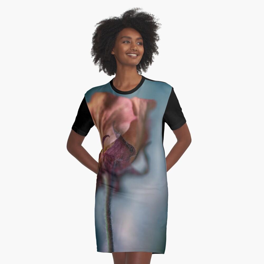 Flower Mystical Graphic T-Shirt Dress