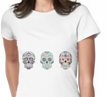 Sugar skulls Womens Fitted T-Shirt