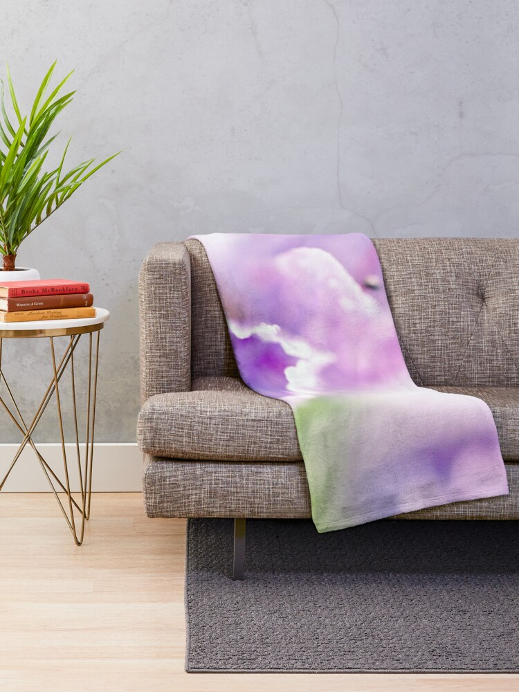 Alternate view of Flower Mystical Throw Blanket