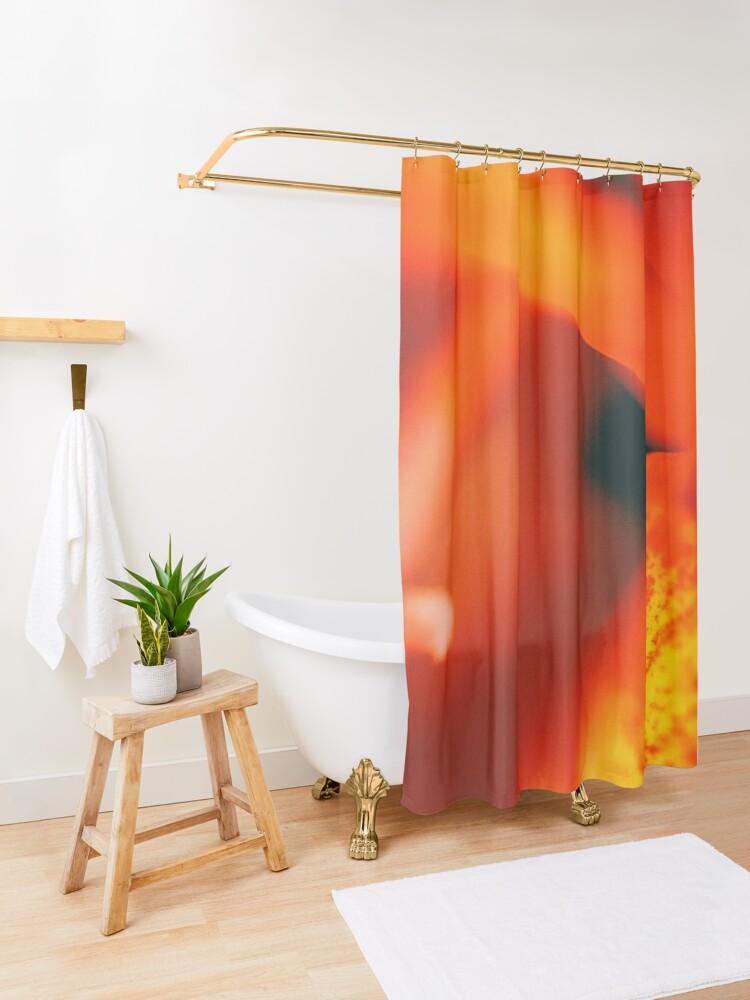 Alternate view of Flower Mystical  Shower Curtain