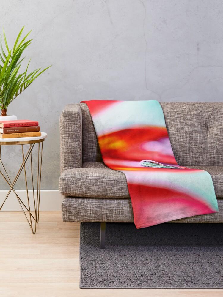 Alternate view of Flower Mystical  Throw Blanket