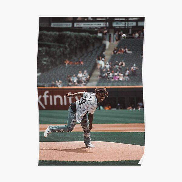 juice wrld throwing a pitch Poster