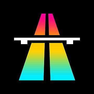 Rainbow Roadsign by JASONCRYER